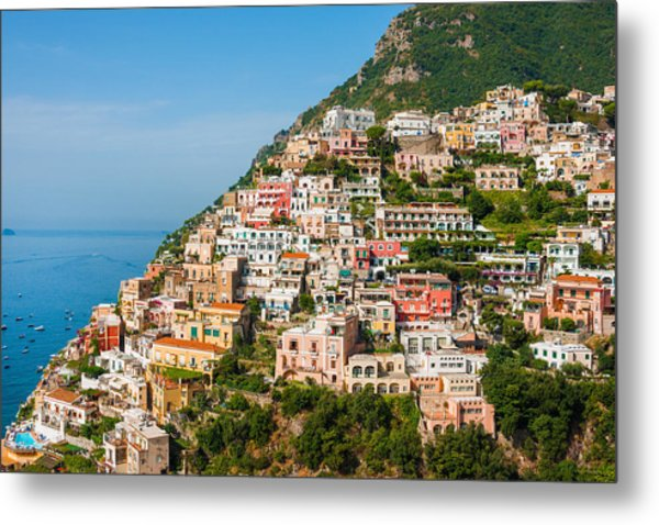 Positano City Metal Print