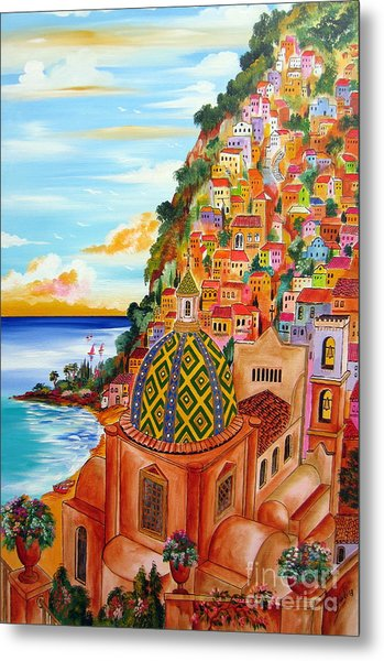 Positano In My Fantasy Metal Print