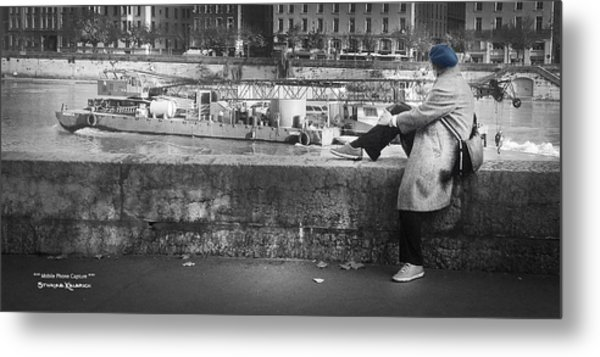 Metal Print featuring the photograph Positive Meditation On The River by Stwayne Keubrick