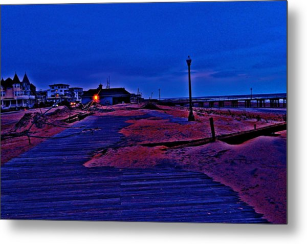 Post Sandy Effects Metal Print