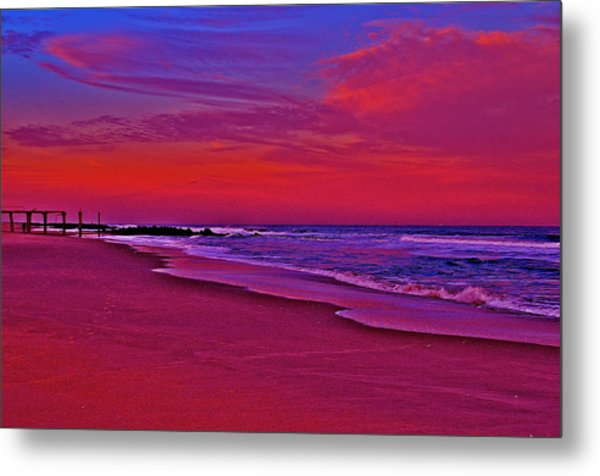 Post Sandy Pier Metal Print