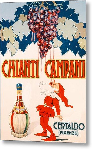 Poster Advertising Chianti Campani Metal Print