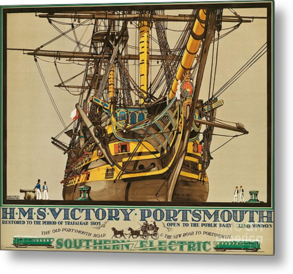 Poster Advertising Southern Electric Railways Metal Print