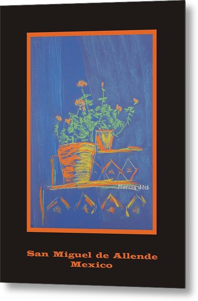 Poster - Blue Geranium Metal Print by Marcia Meade