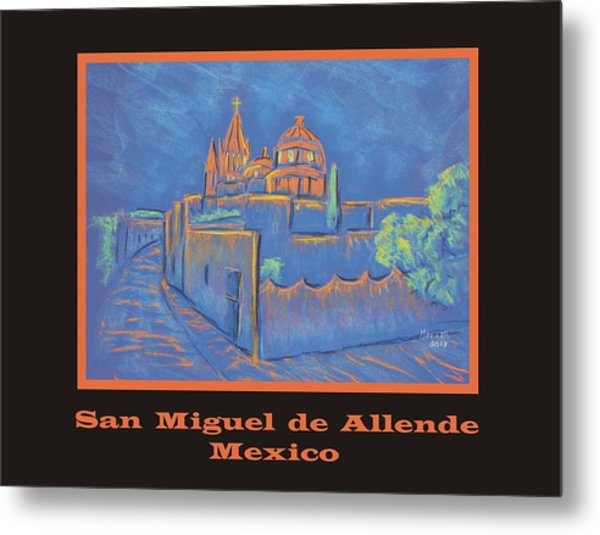 Poster - Cobblestone To The Basilica Metal Print by Marcia Meade