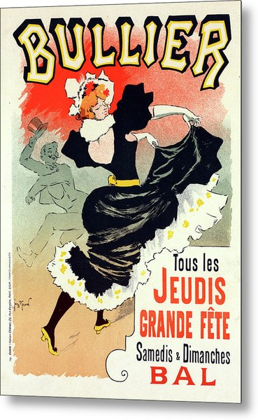 Poster For Le Bal Bullier. Meunier, Georges 1869-1942 Metal Print