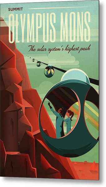 Poster For Tours Of Olympus Mons Metal Print by Nasa/science Photo Library