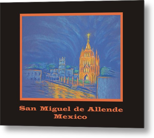 Poster - Jardin In The Parroquia Metal Print by Marcia Meade
