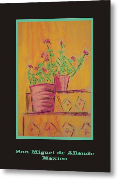 Poster - Orange Geranium Metal Print by Marcia Meade
