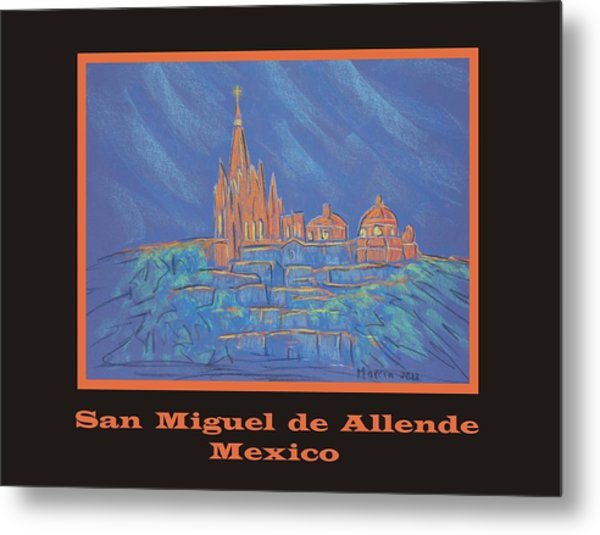 Poster - Parroquia From Below Metal Print by Marcia Meade