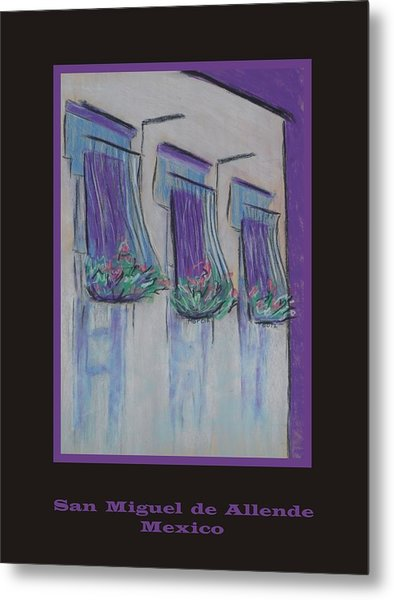 Poster - Purple Balcony Metal Print by Marcia Meade