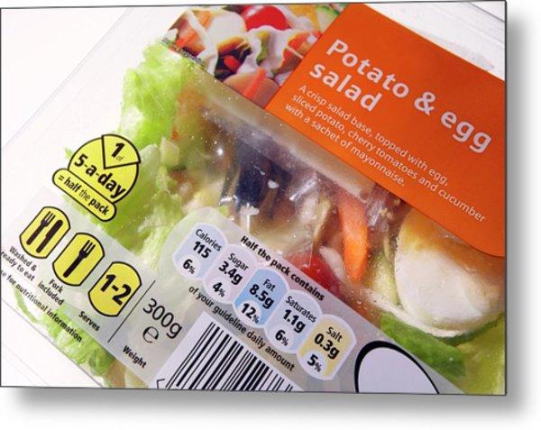 Potato And Egg Salad Metal Print by Mark Sykes