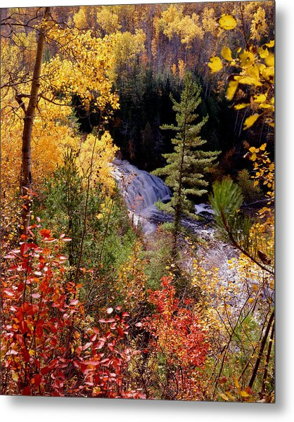 Potato River Lower Falls Metal Print by Tim Hawkins