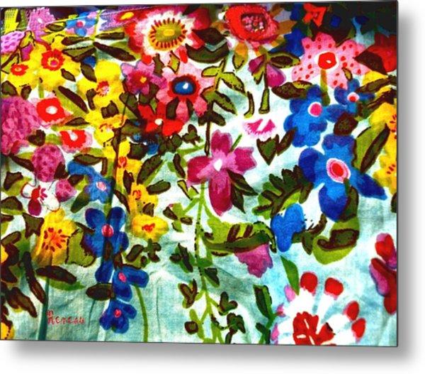 Potpourri Flowers Metal Print