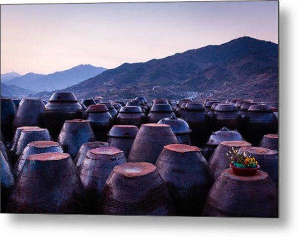 Pots Of Plum Metal Print