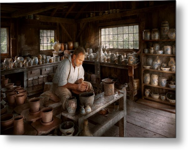Potter - Raised In The Clay Metal Print