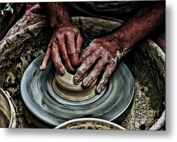 Potters Wheel  Metal Print