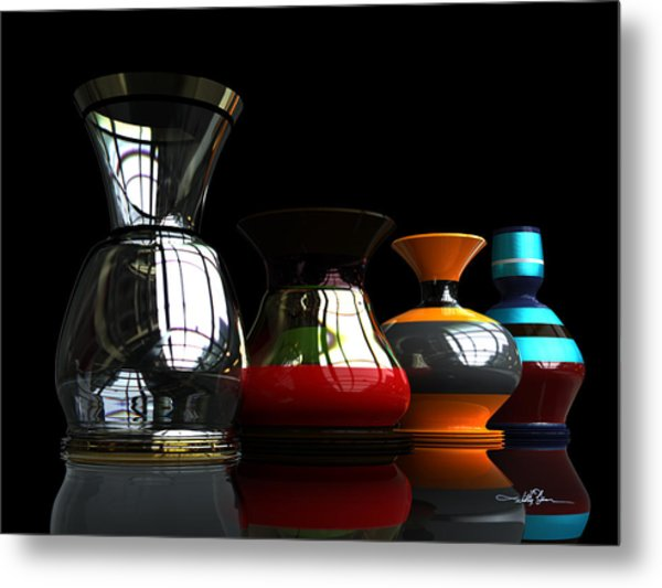 Pottery Quartet Metal Print