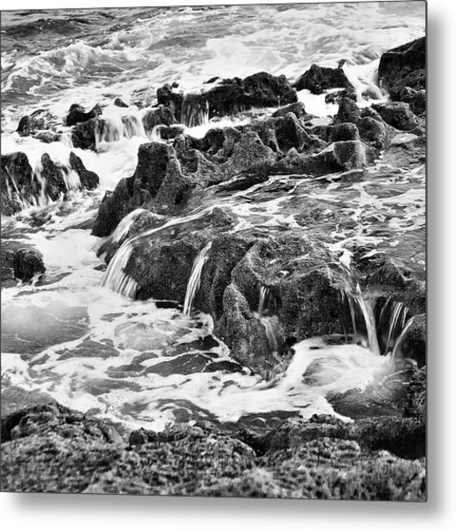 Pouring Rocks Metal Print