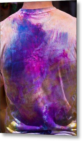 Powder Coated Shirt Metal Print by Debbie Cundy