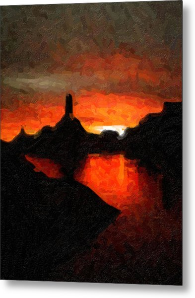 Powell Sunset Metal Print