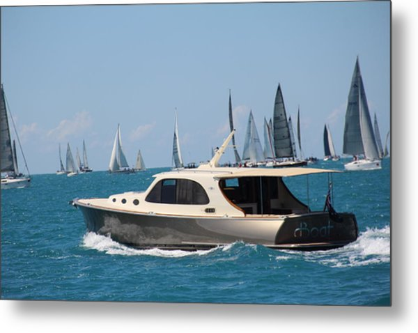 Metal Print featuring the photograph Power And Sail by Debbie Cundy