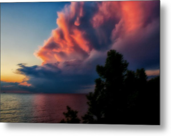 Power Cloud Metal Print