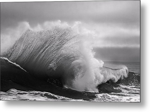 Power In The Wave Bw By Denise Dube Metal Print