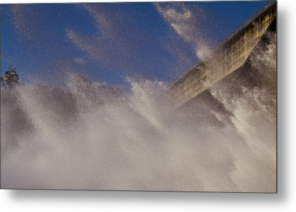 Power Of Water Metal Print by Debbie Cundy