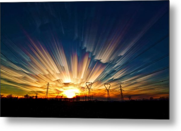 Power Source Metal Print