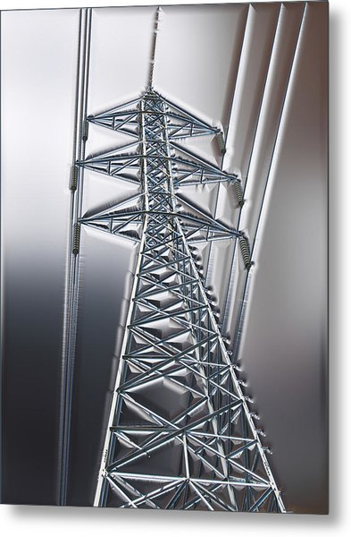 Power Station - Cool Optimized For Metallic Paper Metal Print