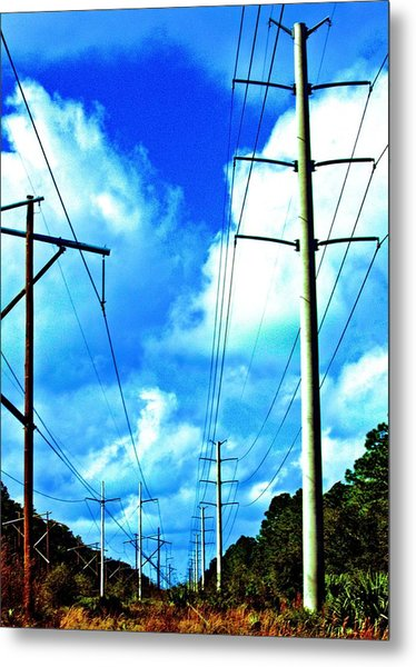 Power To The Infinity Metal Print