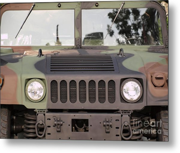 Powerful Army Off Road Vehicle Metal Print