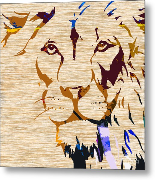 Powerful Wildlife Tiger Metal Print
