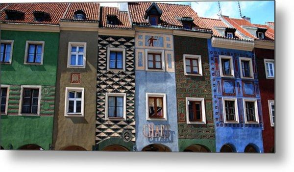 Poznan Town Houses Metal Print