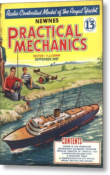 Practical Mechanics 1950s Uk Diy Boats Metal Print by The Advertising Archives