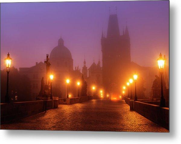 Prague, Czech Republic, Charles Bridge Metal Print by B&m Noskowski