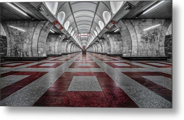 Prague Metro Metal Print