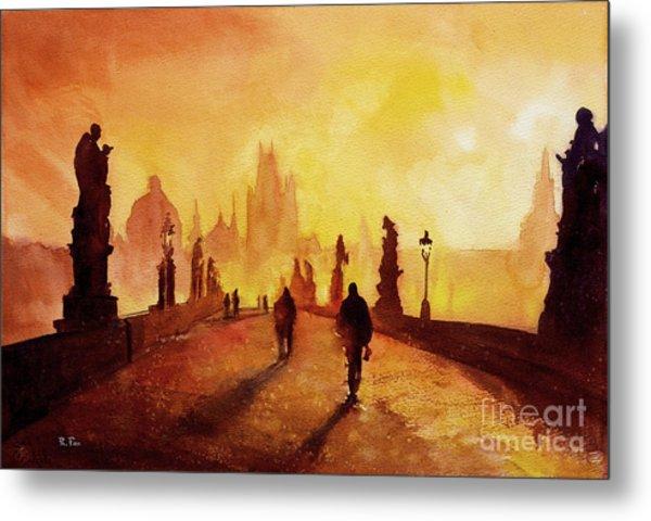 Prague Sunrise Metal Print