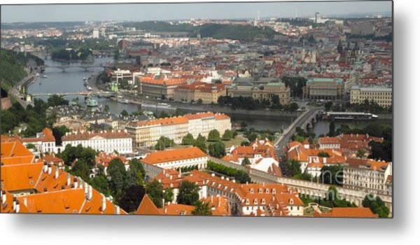 Prague - View From Castle Tower - 02 Metal Print by Gregory Dyer