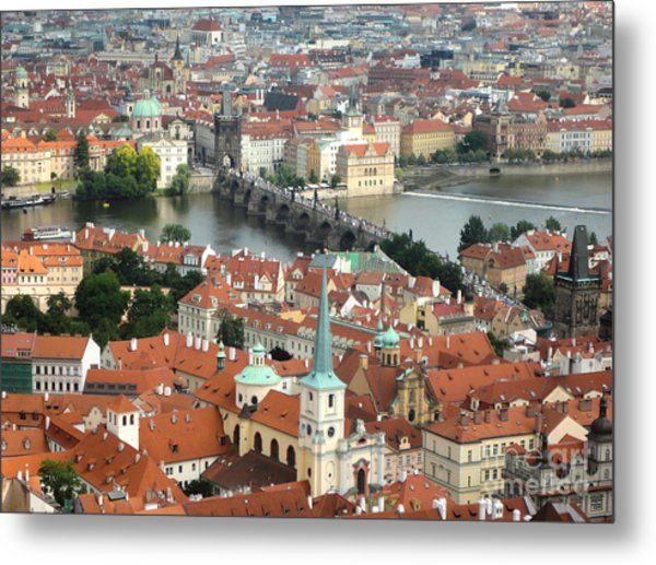 Prague - View From Castle Tower - 03 Metal Print by Gregory Dyer
