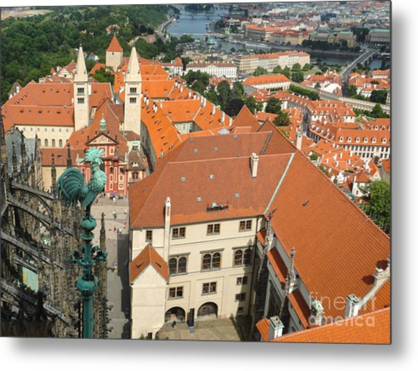 Prague - View From Castle Tower - 04 Metal Print by Gregory Dyer