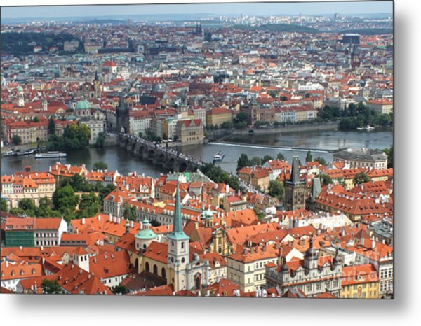 Prague - View From Castle Tower - 05 Metal Print by Gregory Dyer