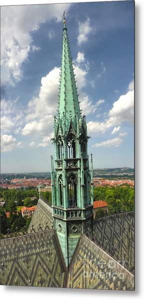 Prague - View From Castle Tower - 07 Metal Print by Gregory Dyer