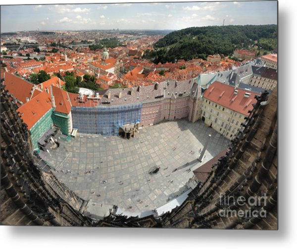 Prague - View From Castle Tower - 08 Metal Print by Gregory Dyer