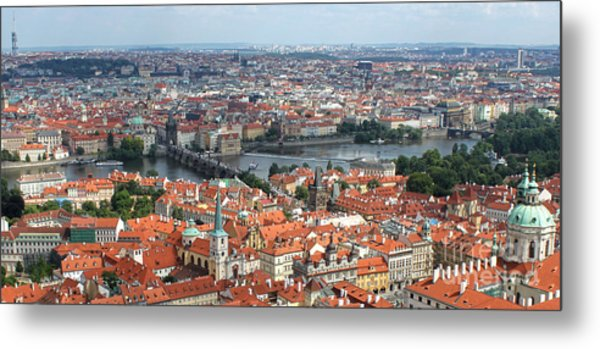 Prague - View From Castle Tower - 09 Metal Print by Gregory Dyer