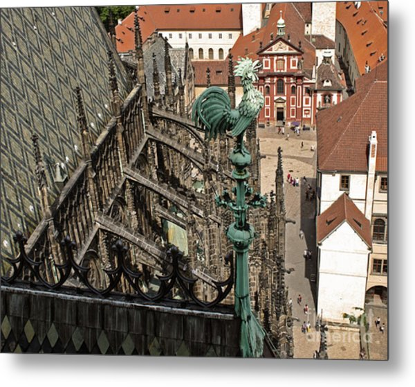 Prague - View From Castle Tower - 11 Metal Print by Gregory Dyer