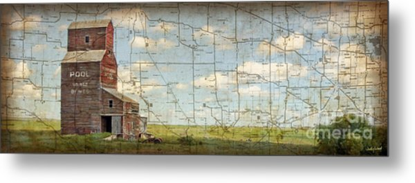 Prairie Panorama Metal Print by Judy Wood