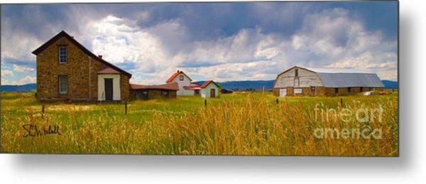 Wyoming Prairie Scene Metal Print