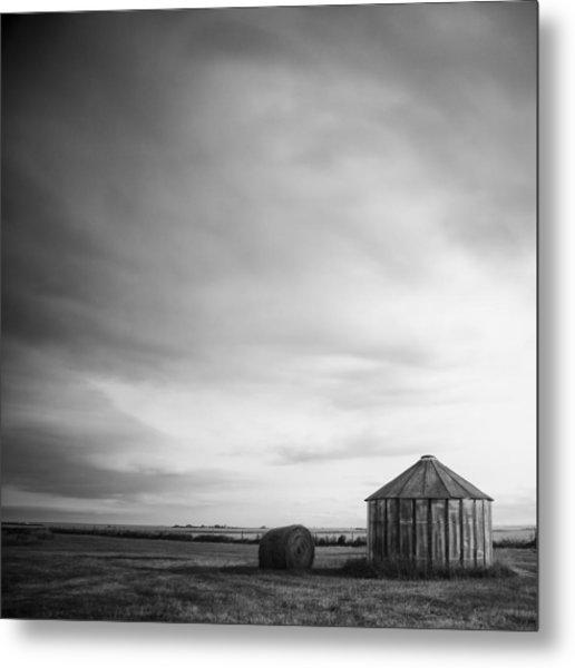 Prairie Silo Metal Print